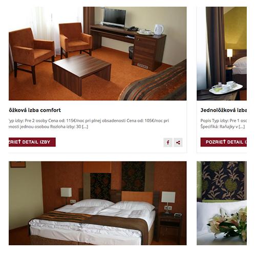 dizajn webu hotela